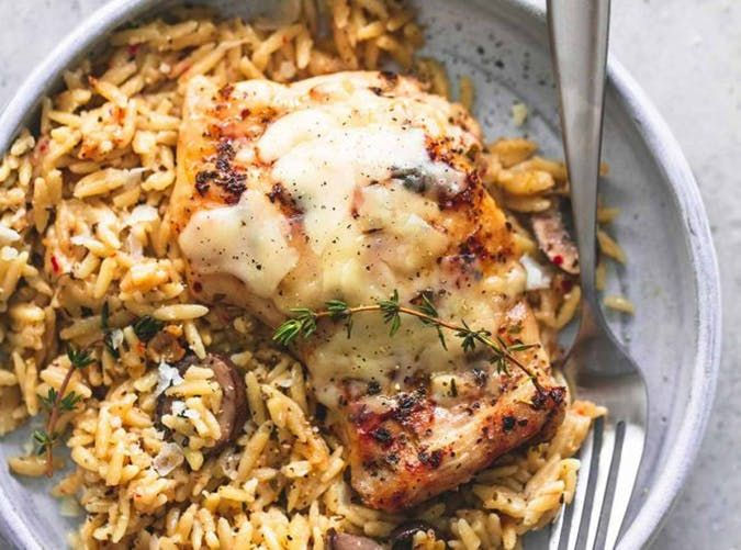 Slow Cooker Parmesan Herb Chicken Orzo mediterranean slow cooker meals