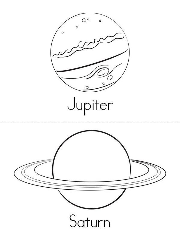 nine planets coloring pages - photo#15