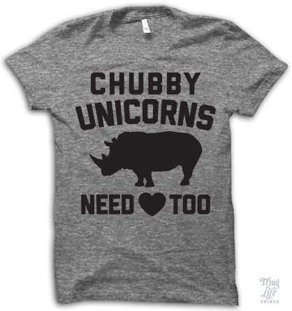 Chubby unicorns need love too! Digitally printed on American Apparel's athletic tri-blend t-shirt. You'll love it's classic fit and ultra-soft feel. 50% Polyester / 25% Rayon / 25% Cotton. Each shirt