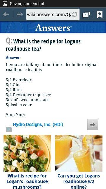 Logan's Roadhouse Long Island Ice Tea