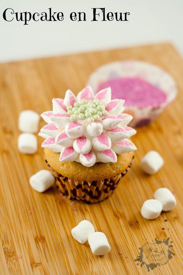 cupcake fleur guimauve - Recherche Google
