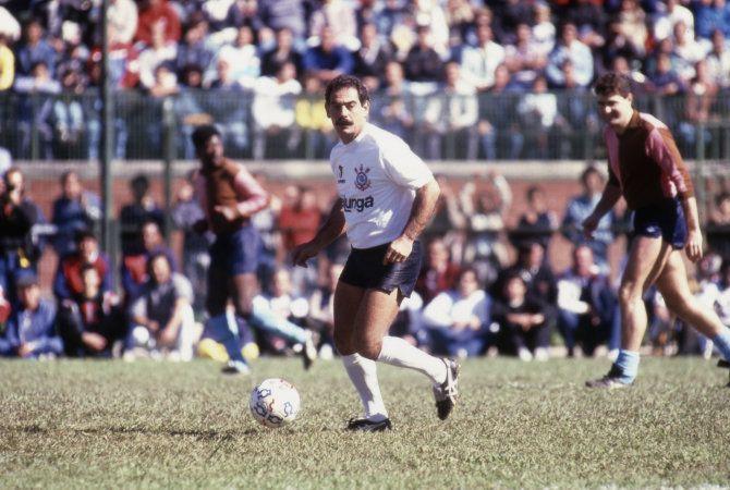 Sport Club Corinthians Paulista - Corinthians 1 x 0 Corinthian Casuals, amistoso em 1988 (Rivelino)