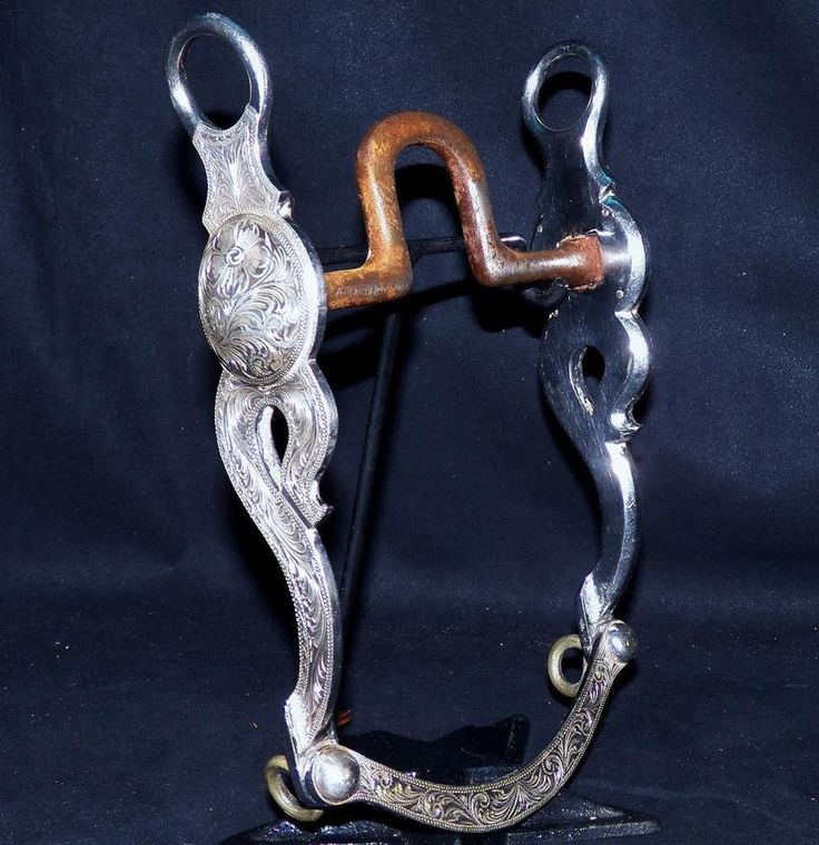 Schneiders SS Tack Billy Royal Sterling Silver Flat US Port Bridle Curb Show Bit