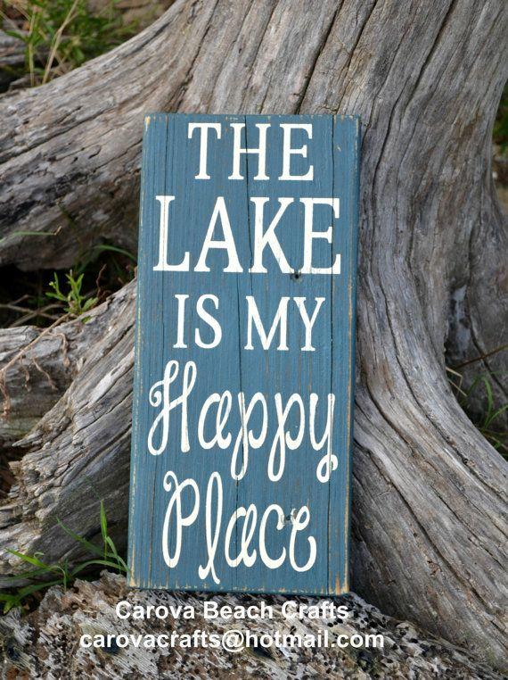Lake Sign Lake House Decor Lake House Sign by CarovaBeachCrafts FB - Carova Beach Crafts