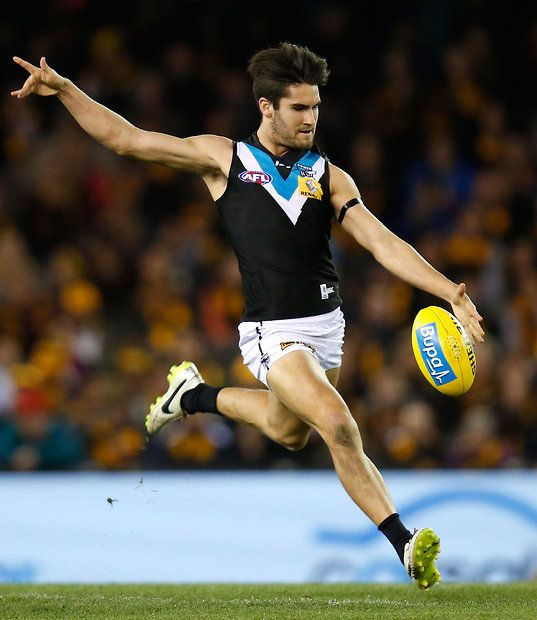 MELBOURNE, AUSTRALIA - AUGUST 21: Chad Wingard of the Power in action during the 2015 AFL round 21 match between the Hawthorn Hawks and Port Adelaide Power at Etihad Stadium, Melbourne, Australia on August 21, 2015. (Photo by Michael Willson/AFL Media)