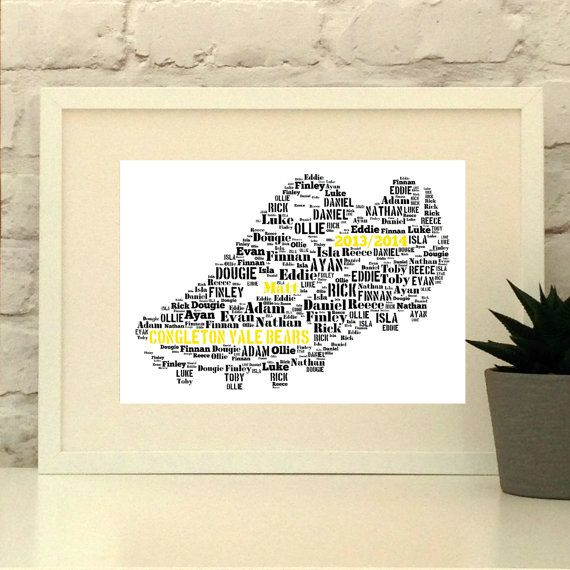 Personalised Football Boot Soccer Boot Unframed by PepperDoodles