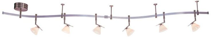 George Kovacs Nickel with White Glass Track Lighting Kit - Master closet