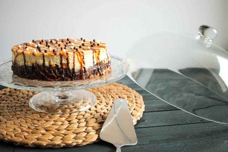 Cheesecake base brownie, caramel au beurre salé et chocolat