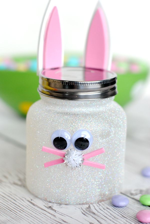 Easter Bunny Candy Jar - there's also a little ducky on the page :)