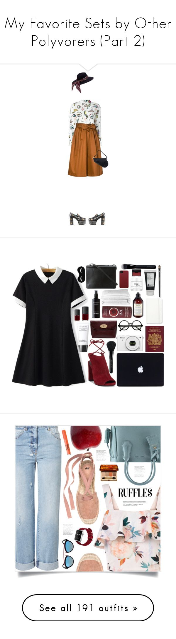 """My Favorite Sets by Other Polyvorers (Part 2)"" by mormon-girl ❤ liked on Polyvore featuring Gucci, Boutique Moschino, Tome, Christian Dior, Dior, prints, hermes, gucci, culottes and Retrò"