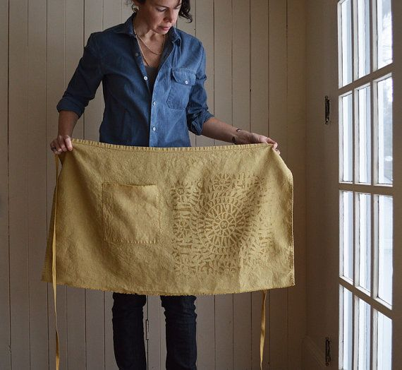 Ochre Cafe Apron by untold imprint