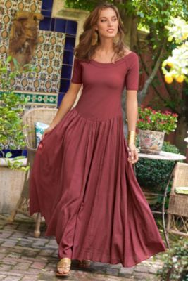 Talls Valencia Dress - Off The Shoulder Long Summer Dress, Dresses, Clothing | Soft Surroundings