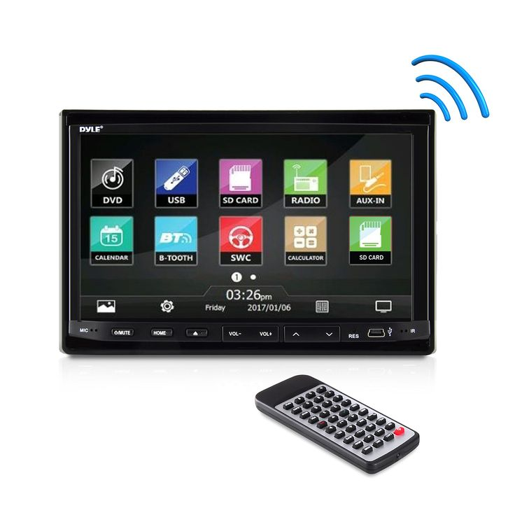 17 best ideas about fm radio receiver arduino pyle pldn744 7 inch double din in dash motorized slide down touch screen
