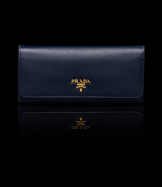 Saffiano Leather Wallet in Baltic Blue by Prada ¡ê285.00 | Want-Ins ...