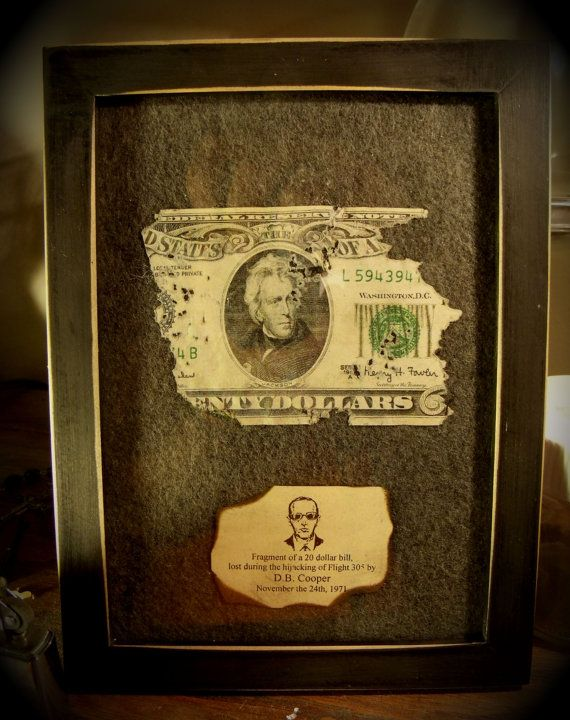20 Dollar Bill from DB Cooper Heist by TheRagNBoneEmporium on Etsy, $13.66