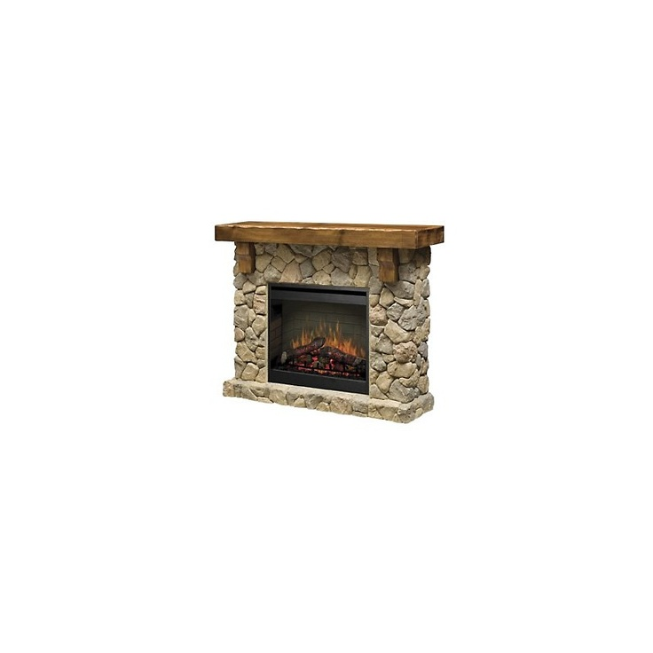 dimplex fieldstone free standing electric fireplace at hsncom - Free Standing Electric Fireplace