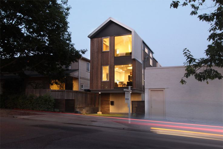 Custom Designed Town Homes by First Lamp Architecture in Seattle Washington