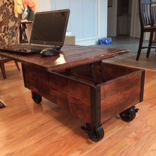 DIY Coffee Table With Casters In Use Part 64