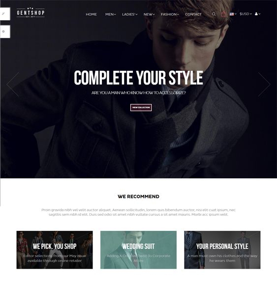 This minimal PrestaShop theme comes with a responsive design, unlimited colours, a Bootstrap framework, a mega menu, Google Fonts, parallax backgrounds, HTML5 and CSS3 code, multiple layout options, a layer slider, and more.
