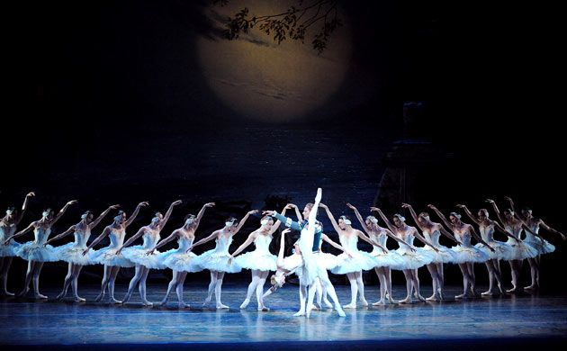 Be Inspired by the 7 Swans - a - Swimming in 12 days of Christmas and watch on DVD, The Paris Opera Ballets rendition of Swan Lake. Purchase it at the ABC Shop in The Queen Victoria Building