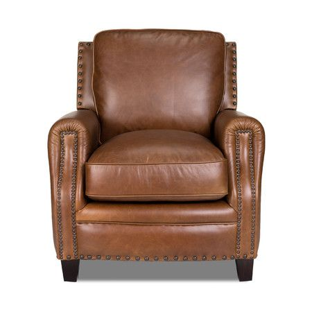 949 Covered in gently aged leathers accented with brass tacks, the Bradford Chair is attainable quality, timeless design and luxury all wrapped up in one exqu...