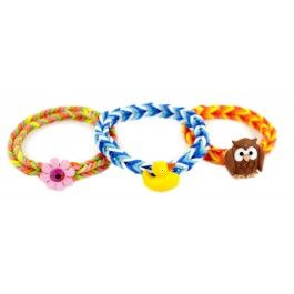 Button Toggle Clasp Stretch Band Bracelet #rainbowloom #buttontoggle #stretchband