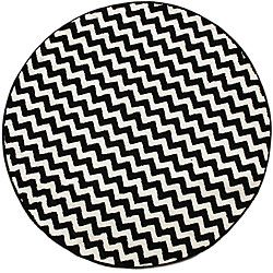 Nuloom Alexa Chevron Vibe Zebra Black White Rug 3 Round Ping Great Deals On Oval Square