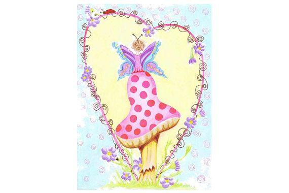 Fairy garden nursery instant art nursery decor girls