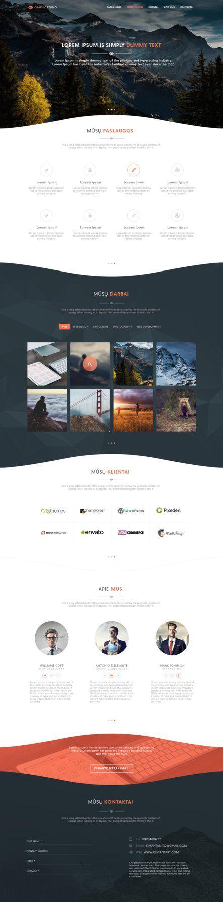 Portfolio Web Template by iEimiz