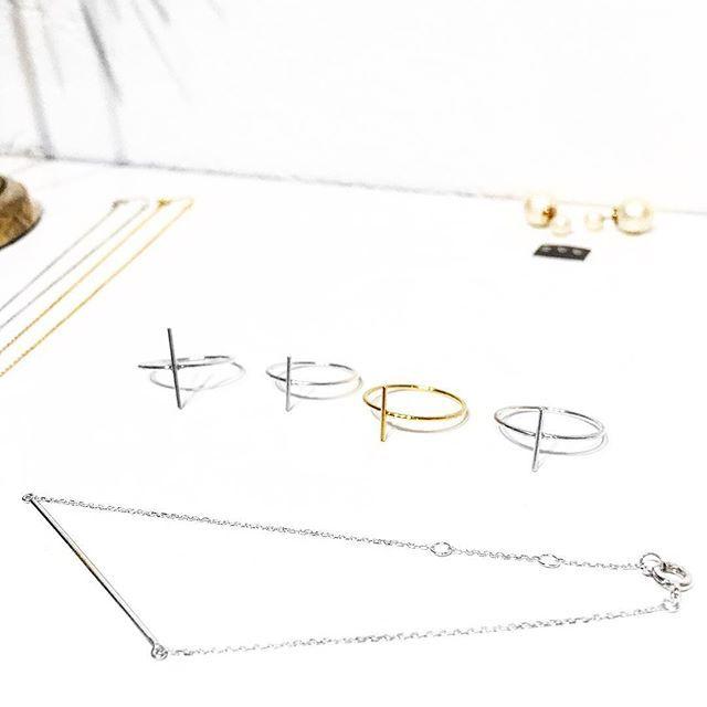 Sterling Silver Bar Rings + Bracelet #SMUSMY 250DKK/stk