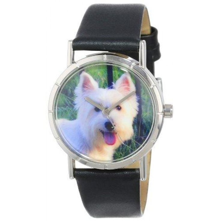 Westie Photo Watch in Silver Small  The Westie is known for bright white coat and its sweet, strong-willed personality. The Westie Watch aims to celebrate this spunky, yet small breed.