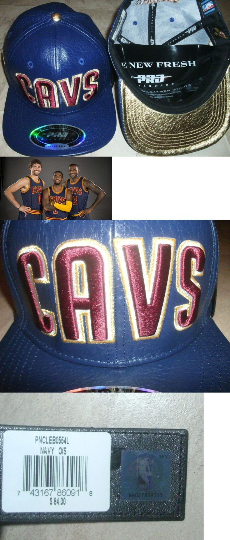 Hats and Headwear 158968: $100 Cleveland Cavaliers Leather Hat Cavs Nba Jersey-Clr Lebron Kyrie M L Xl Xxl -> BUY IT NOW ONLY: $59.23 on eBay!