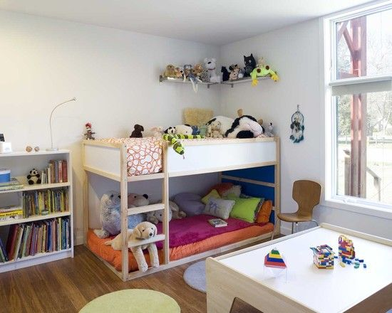 Design Your Own Bunk Bed: Modern Kids Buk Bed With Kura Loft Bed From Ikea And The Mattress Is A Twin Size ~ wetwillieblog.com Bed Inspiration