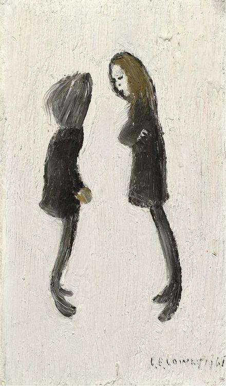 L. S. Lowry - Teenagers, 1961