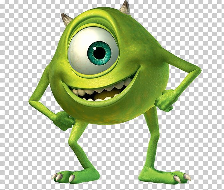 Mike Wazowski James P Sullivan Monsters Png Amphibian Eye Fictional Character Frog Green Cartoon Monsters Monsters Inc Png