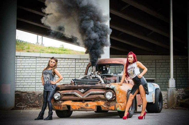 '53 Ford diesel rat rod with pin-up rockabilly look. American muscle! Love it! #tecalyn photography #rustbucket
