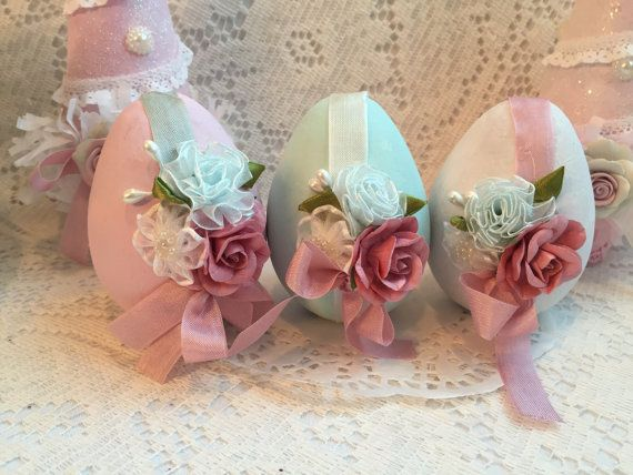 Hey, I found this really awesome Etsy listing at https://www.etsy.com/listing/226008392/shabby-chic-3-paper-mache-easter-pink