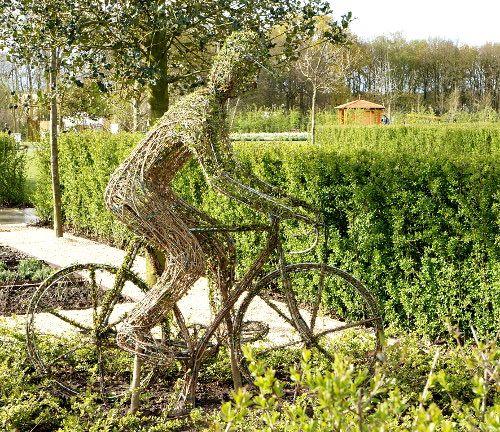 Willow sculpture cyclist