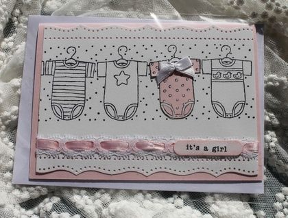 Hand made card  It's a Girl