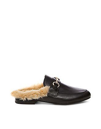 Fur Lined Backless Loafers | Steve Madden JILL