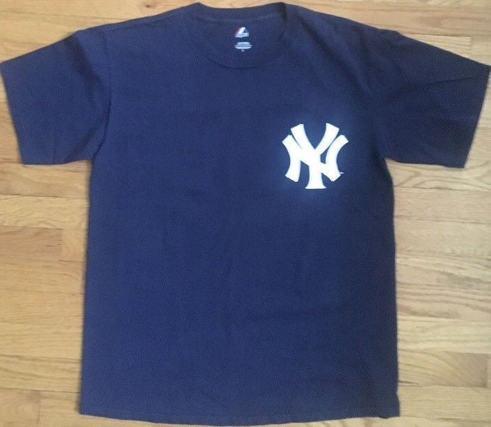 Majestic Robinson Cano New York Yankees #24 ⚾️ T Shirt Size Large