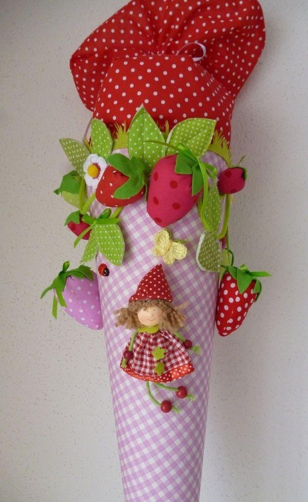 """Schultüten - Schultüte, Zuckertüte, """"Freche Früchte"""" - ein Designerstück von Anastasiyas-Stoffmaerchen bei DaWanda"""