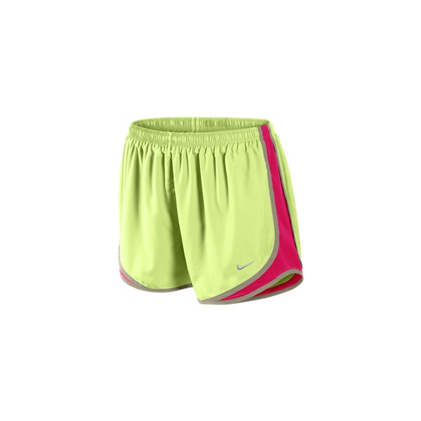 Nike Tempo Track Women's Running Shorts - Liquid Lime, M ($30) ❤ liked on Polyvore