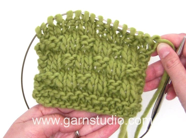 DROPS Knitting Tutorial: How to work an easy textured pattern