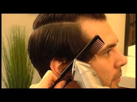 Amanda Bush - Long Mens Haircut - YouTube  Think I might do this for Dustin, of course he'd pomp it up more
