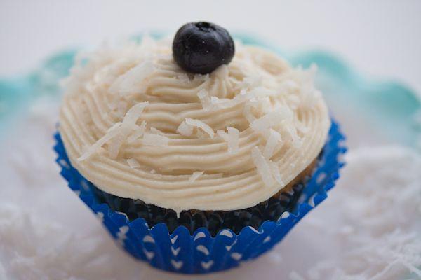 Blueberry Coconut Cupcakes Blauwe bessen - kokosnoot cupcakes