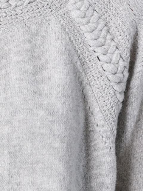 Shop Belstaff braided trim sweater in Mantovani from the world's best…
