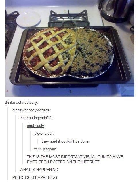 I love when the internet designs its own personality. Venn piagram. Pietosis.