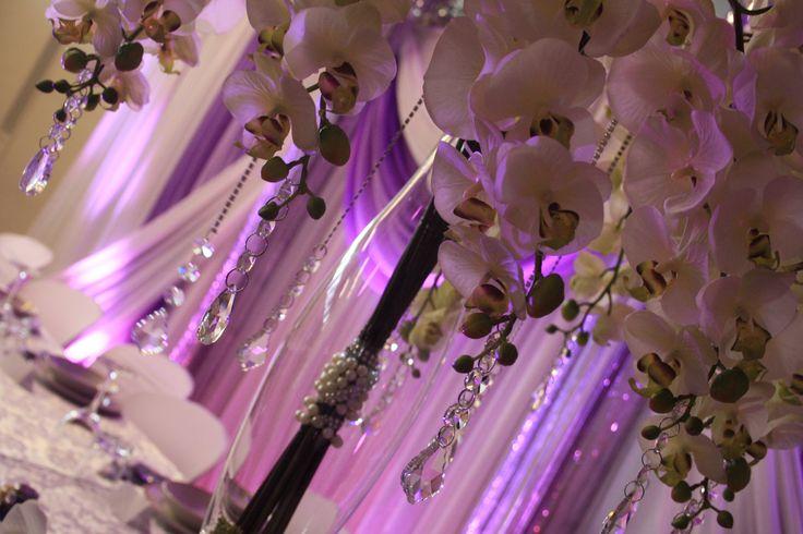 Real touch floral wedding centrepieces  http://partydesign.com.au/centerpieces/