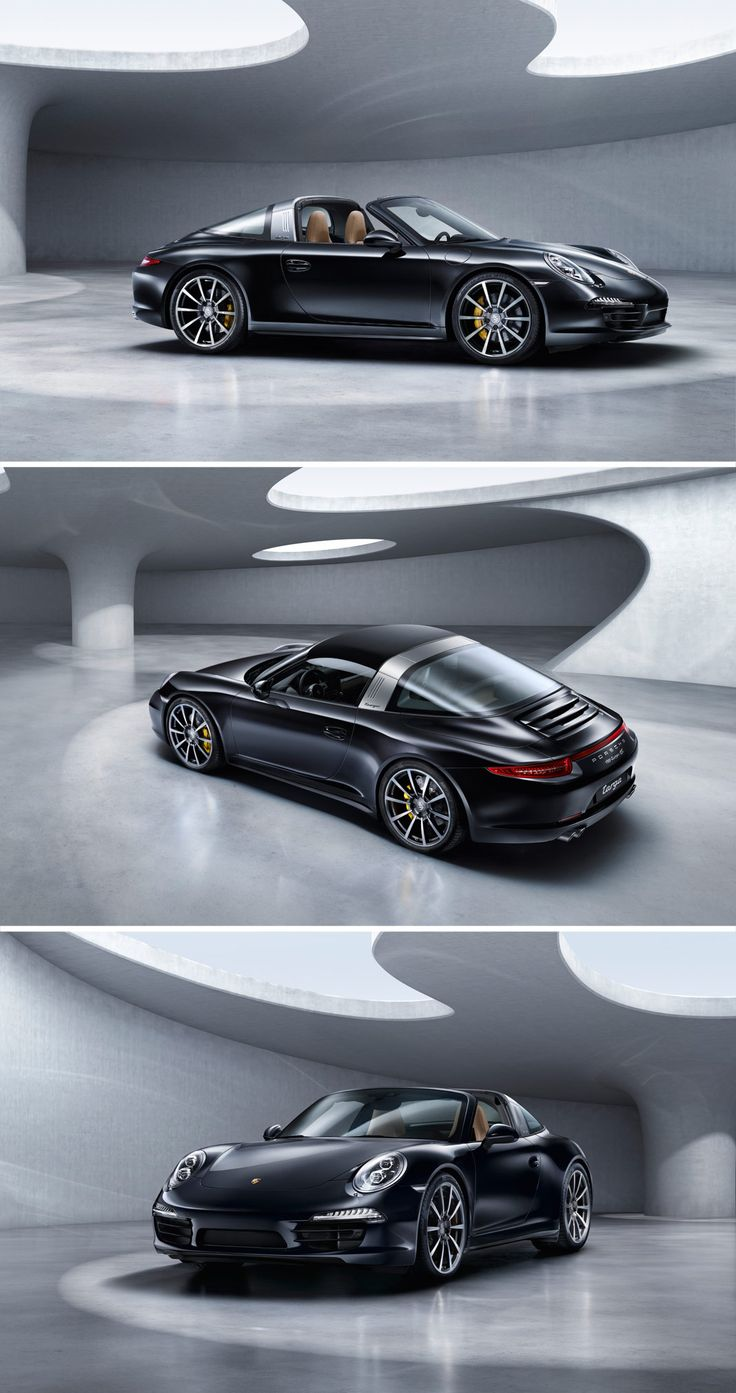 With the new Porsche #911Targa 4, our designers sought a direct path from the distinctly individual style of the original Targa to the sportiness that characterises the 911 right up to the current 7th generation: an even flatter silhouette, clear lines and an extended wheelbase for greater driving stability. Learn more: http://link.porsche.com/targa?pc=9915XPINGA *Combined fuel consumption in accordance with EU 6: 10.0 - 8.7 l/100km; 237 - 204 g/km.